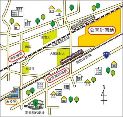 安満遺跡公園MAP