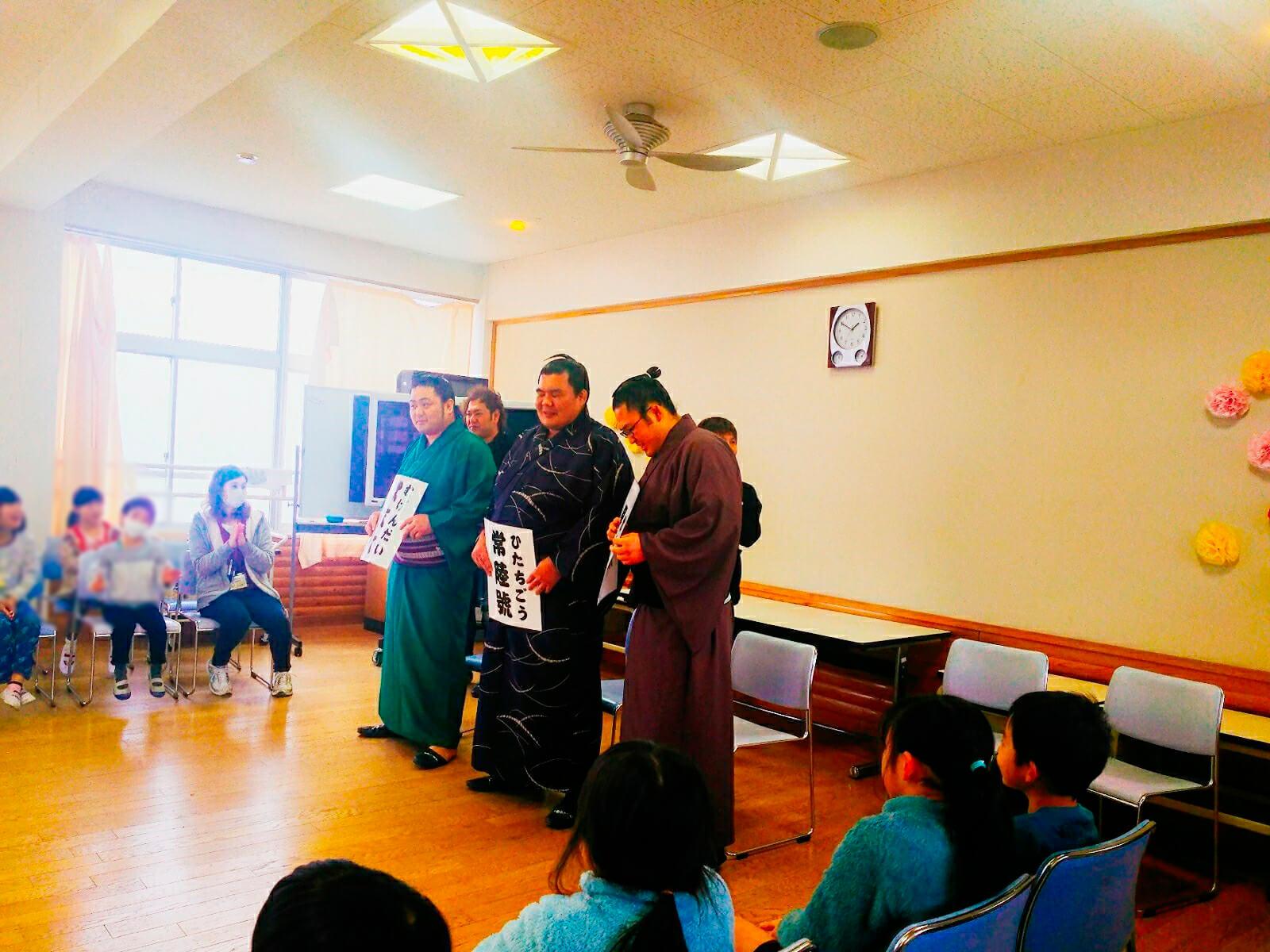藤島部屋小学校訪問2