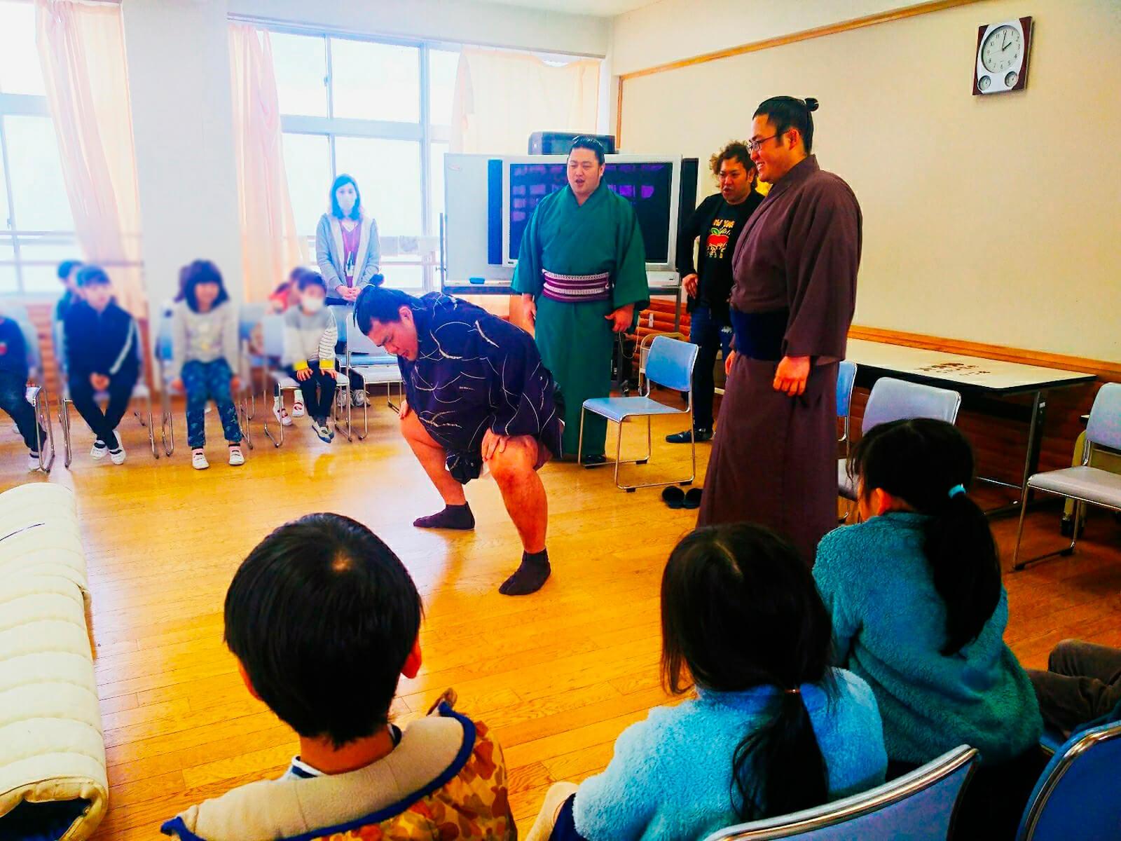 藤島部屋小学校訪問3