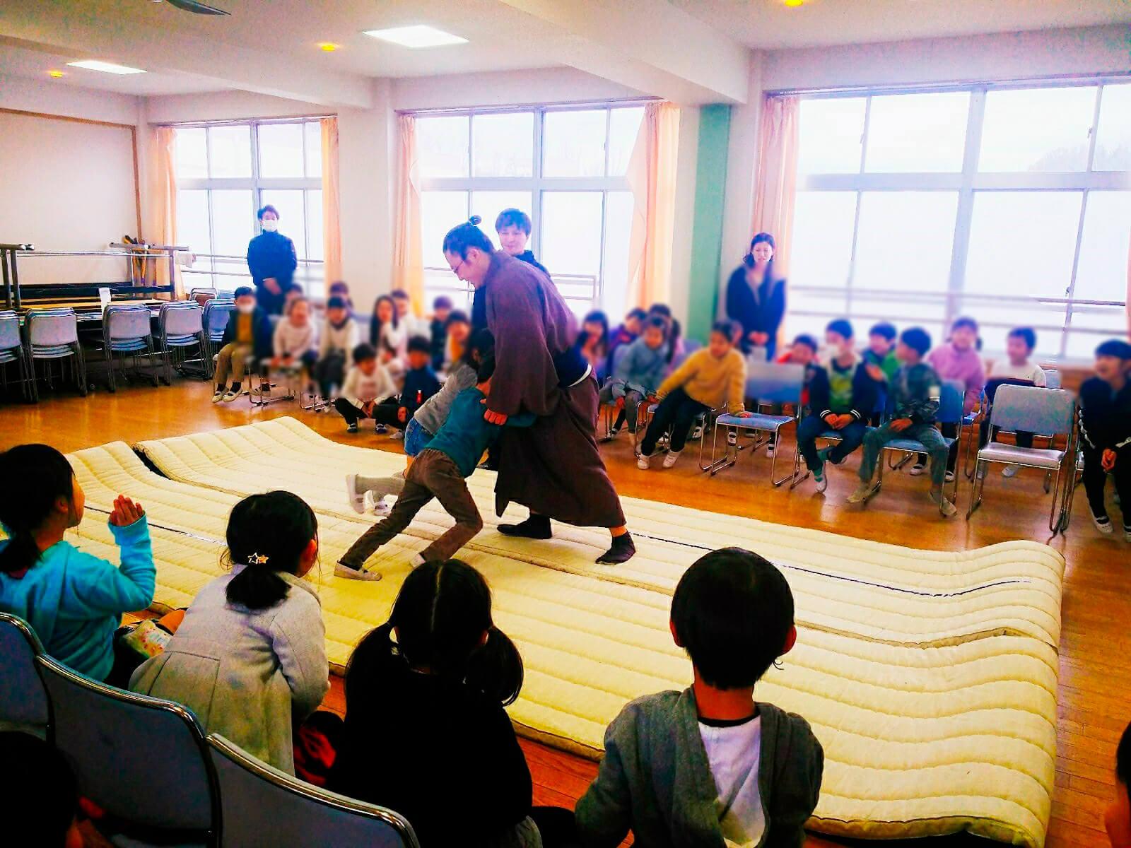 藤島部屋小学校訪問6