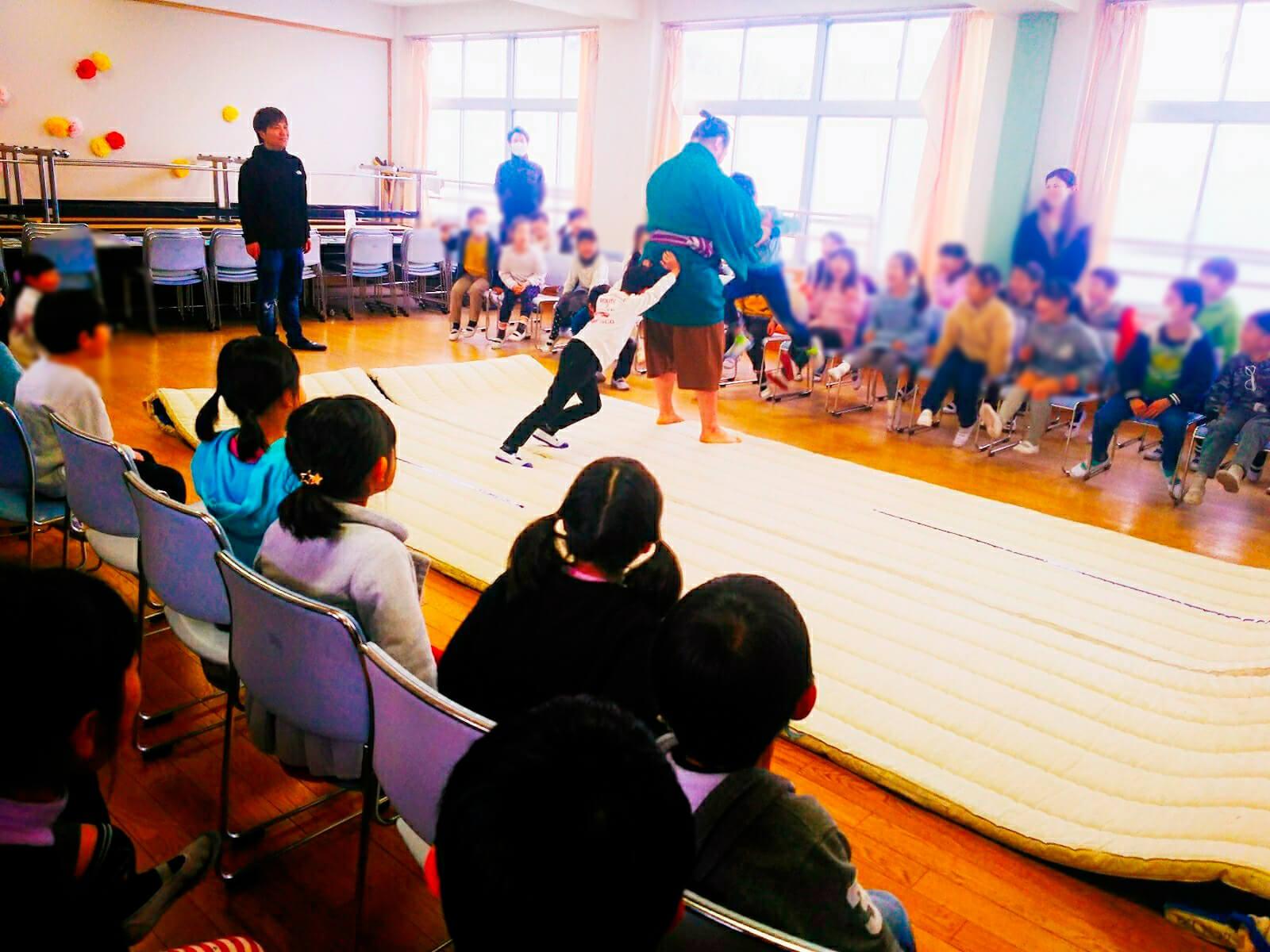 藤島部屋小学校訪問7