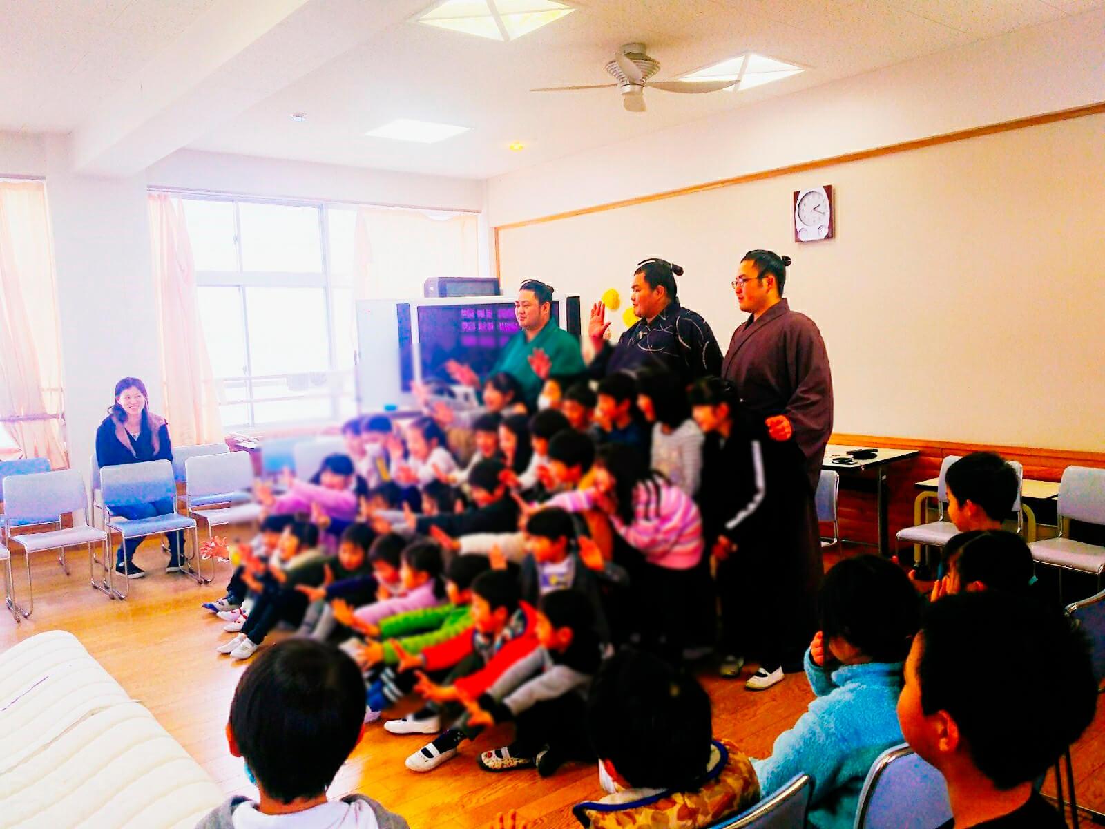 藤島部屋小学校訪問8