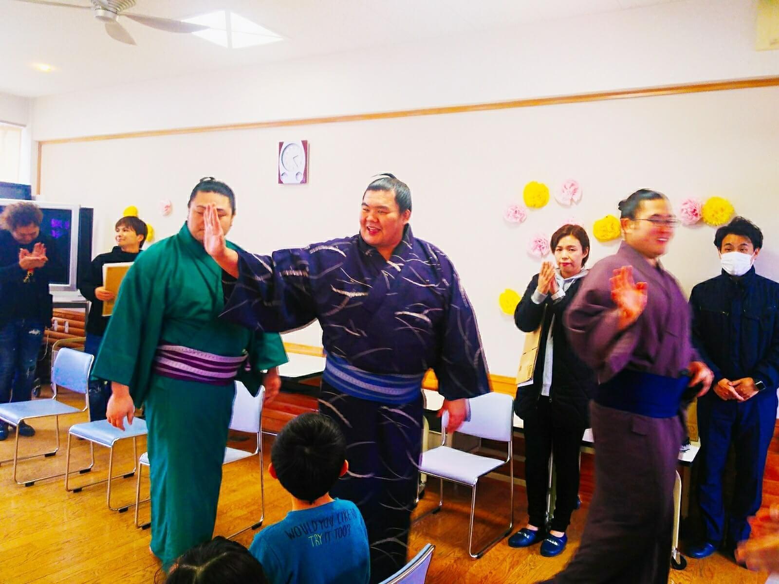 藤島部屋小学校訪問9