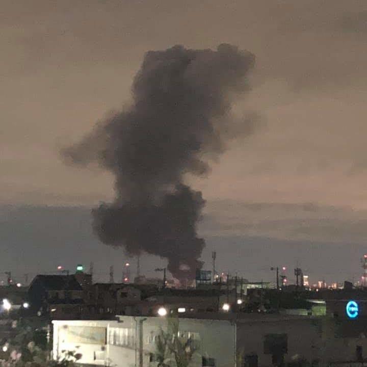 柱本4丁目工場爆発火災